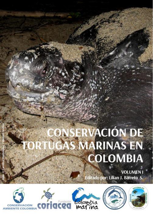 Portada de la publicación con una fotografía de una tortuga marina Laud en la playa