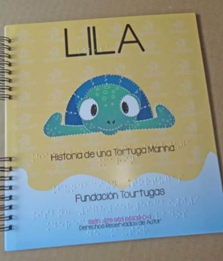 tortugas-para-todos-portada-libro-braille-lila